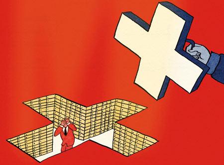 Vignetta pubblicata sul settimanale The Economist