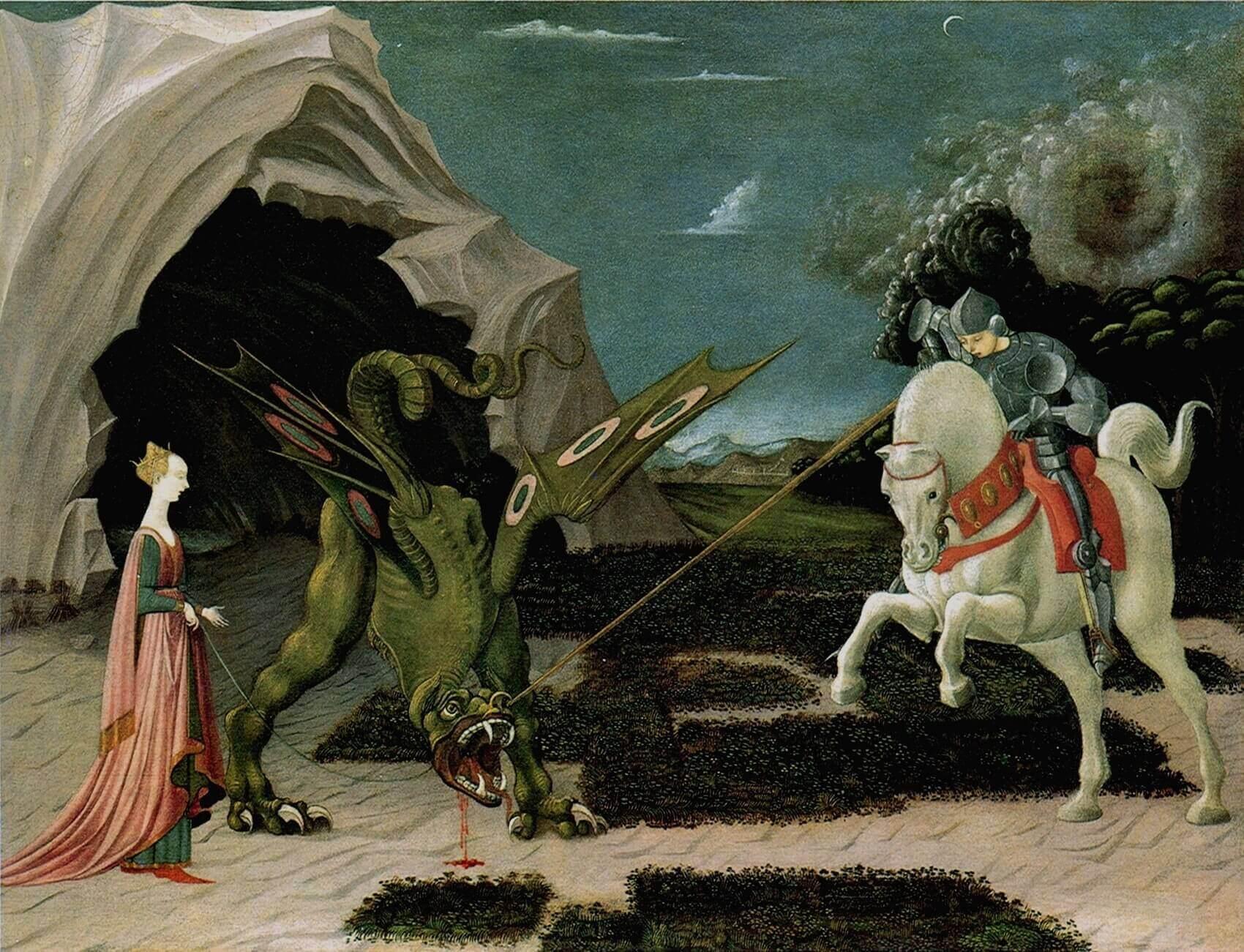 San Giorgio e il Drago 1456 National Gallery Londra