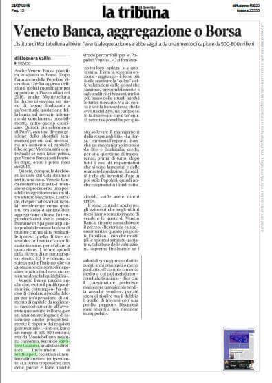 articolo Tribuna TV 23 luglio