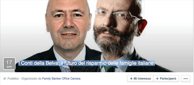 Invito conferenza su Facebook