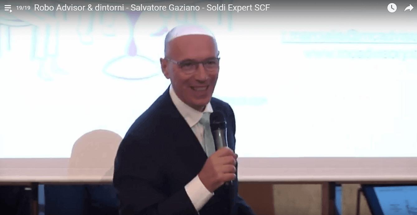 """Salvatore Gaziano, co-fondatore di SoldiExpert SCF durante il suo intervento al convegno """"Robo-advisor & dintorni"""""""