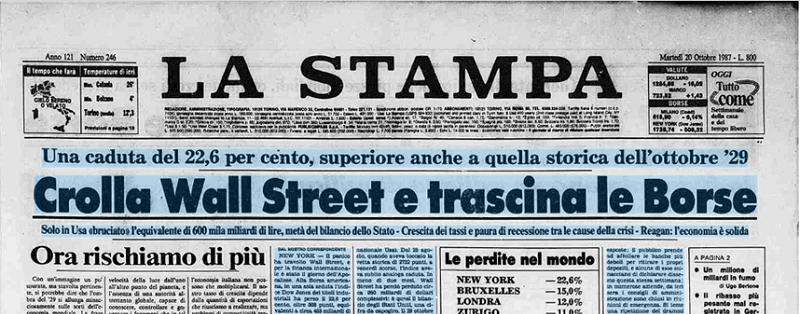 Che cosa è cambiato dopo 30 anni dal crollo di Wall Street? Tutto, anzi niente